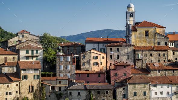 Mulazzo, old village in Lunigiana - Stock Photo - Images