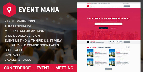 Event Management WordPress Theme - Events Entertainment