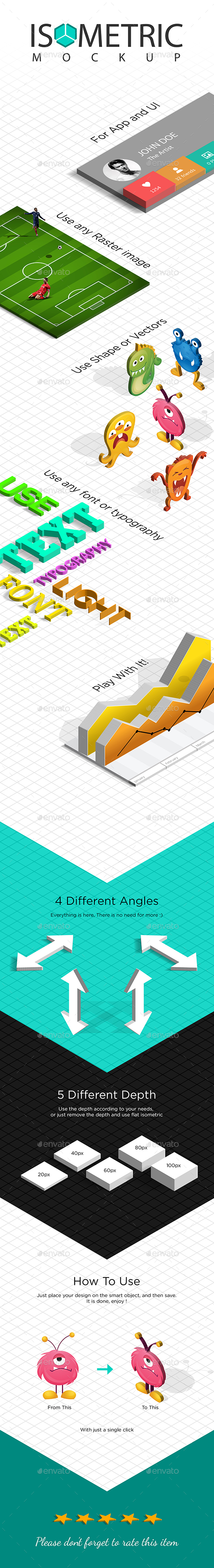 3D Isometric Mockup - Product Mock-Ups Graphics