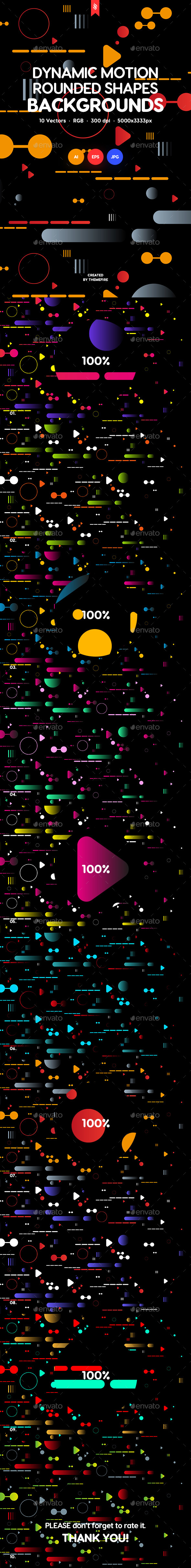 Dynamic Motion Rounded Shapes Backgrounds - Backgrounds Graphics