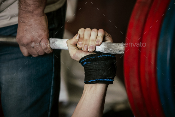 powerlifting bench press - Stock Photo - Images