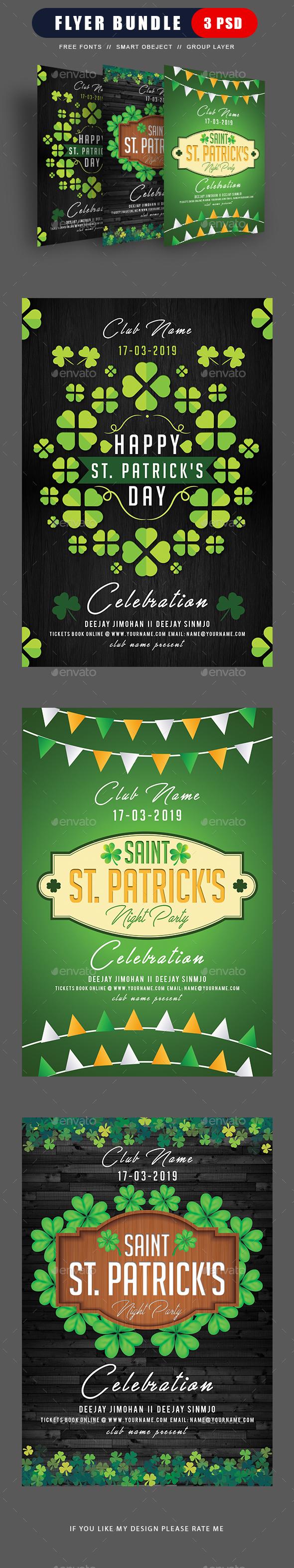 St Patricks Day Flyer Bundle - Events Flyers