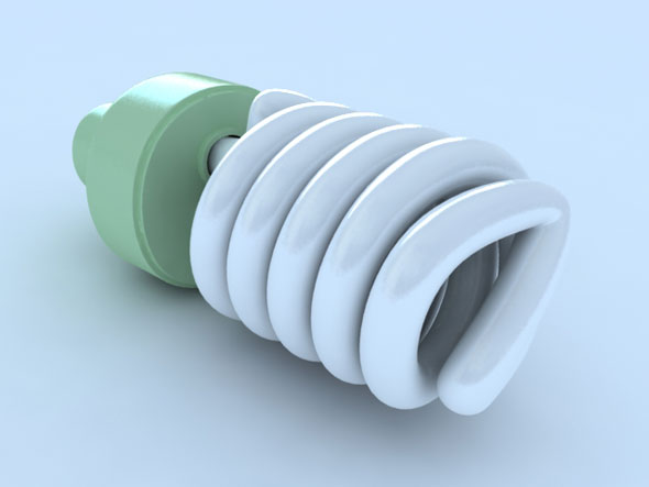 Light bulb (Energy saver) - 3DOcean Item for Sale