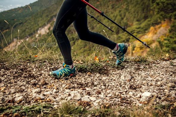 legs woman skyrunner - Stock Photo - Images