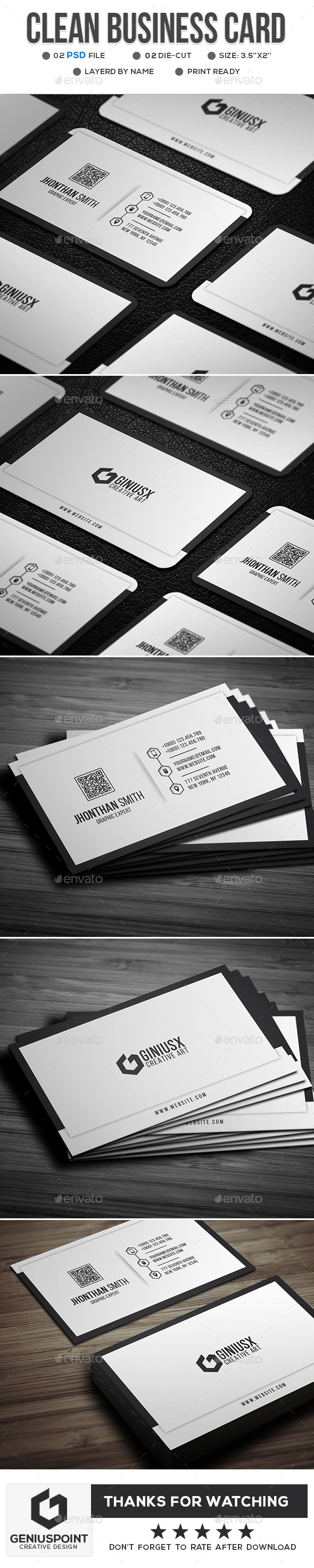 Clean Business Card - Corporate Business Cards