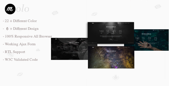 Molo | Multipurpose Coming Soon Bootstrap 4 - Specialty Pages Site Templates