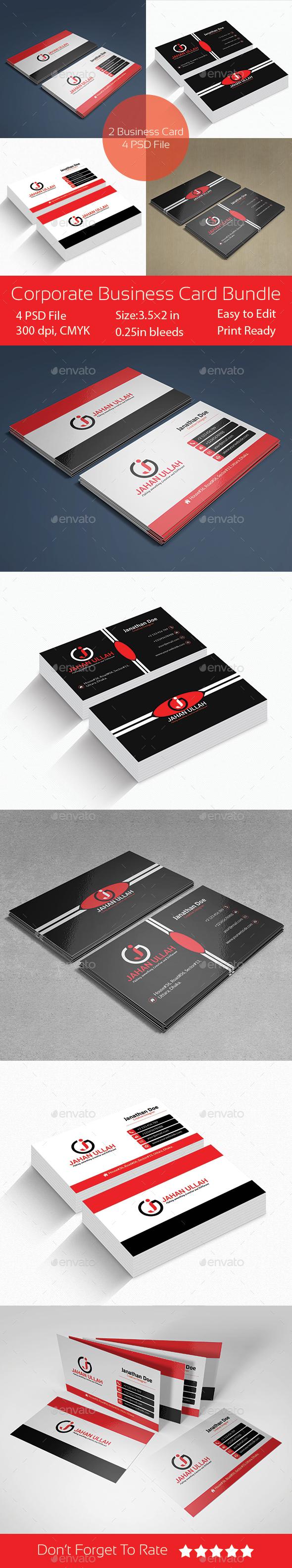 Corporate Business Cards Bundle - Corporate Business Cards
