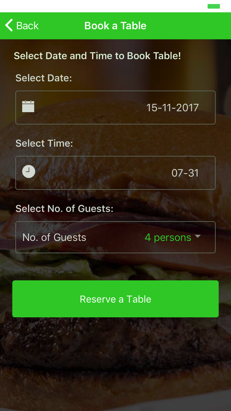 Ionic Restaurant App With Firebase By Ionicfirebaseapp CodeCanyon - Table reserve app