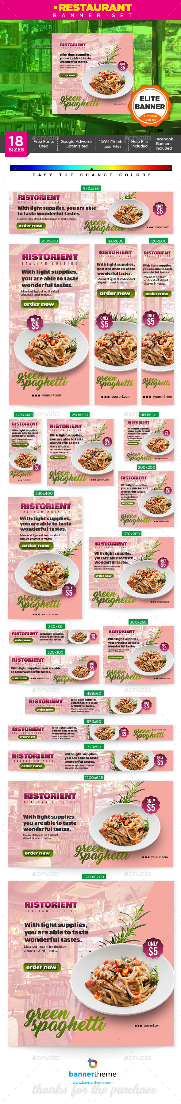 Restaurant Banner - Banners & Ads Web Elements