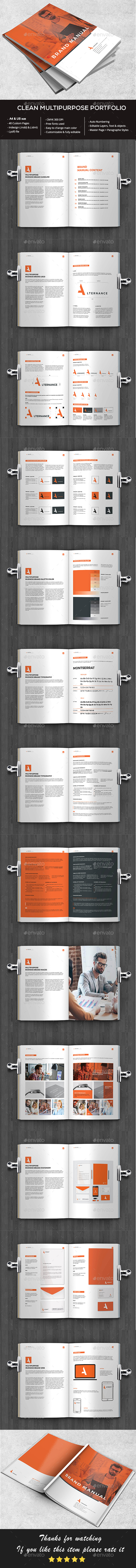 Brand Manual - Brochures Print Templates