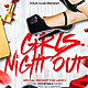 Girls Night / Red Night Party Flyer