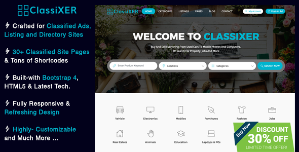 Image of ClassiXER - Classified Ads and Listing Website Template