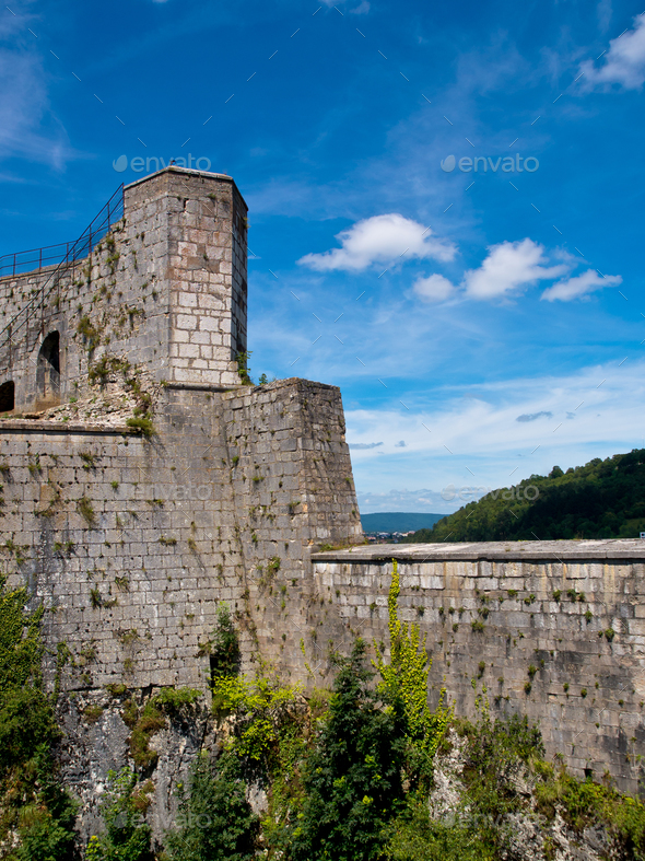 French medieval Fortress - Stock Photo - Images