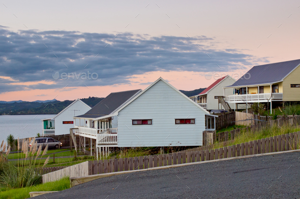 Middle Class Kiwi Homes - Stock Photo - Images