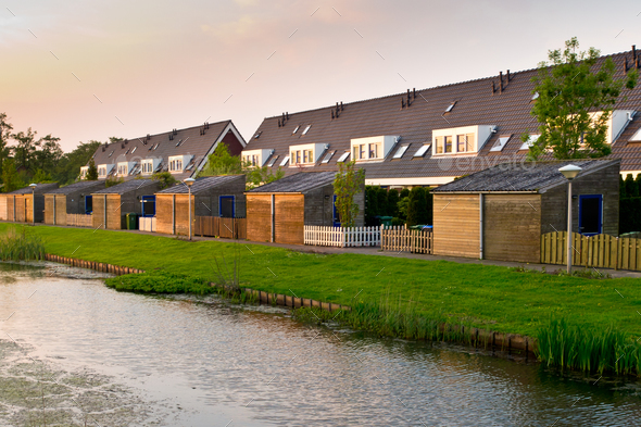 Modern row houses - Stock Photo - Images