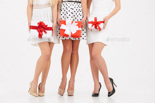 Cropped image of three young girls - Stock Photo - Images