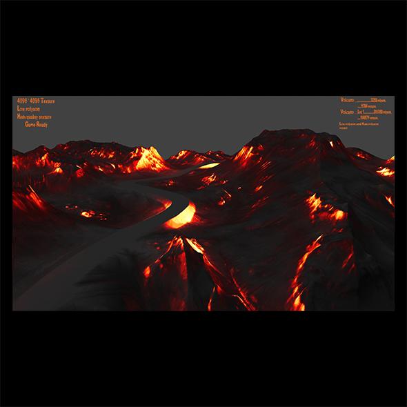 Volcano 4 - 3DOcean Item for Sale