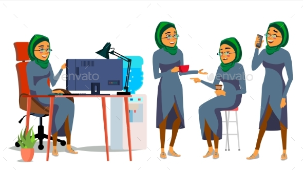 Business Arab Woman Character - People Characters
