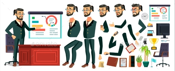 CEO Business Man Character Vector - People Characters