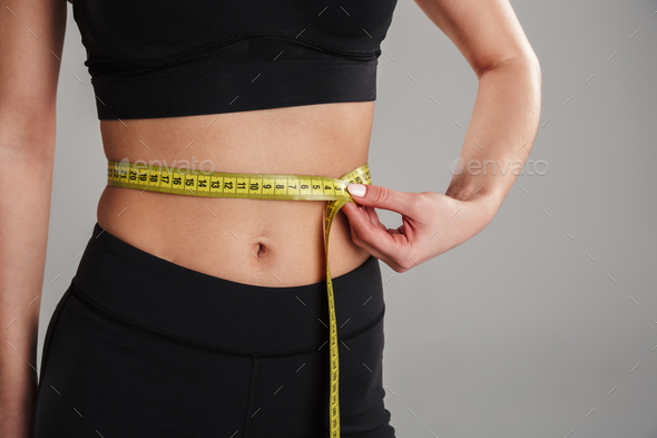 Close up of a slim young sportsgirl - Stock Photo - Images