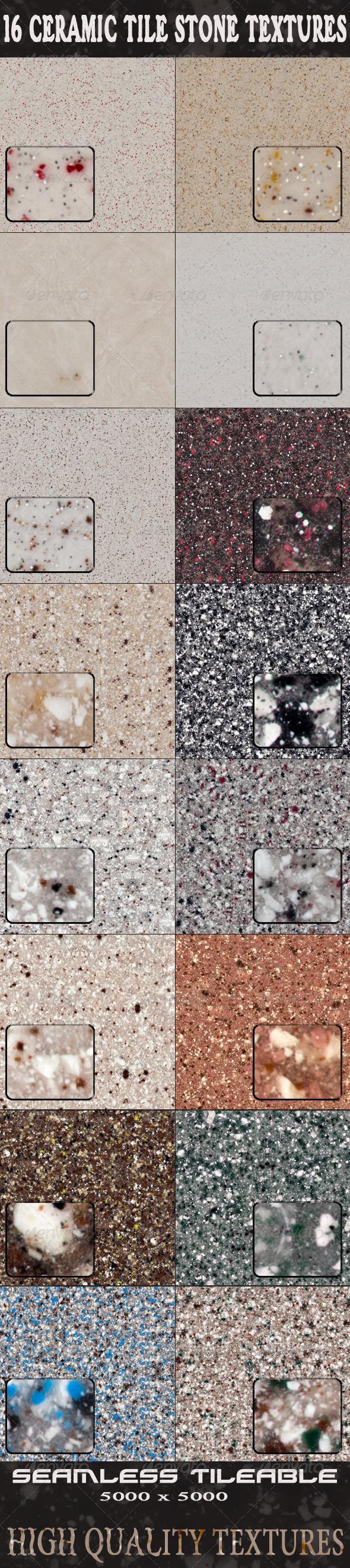 16 Ceramic Tile Stone Textures - Stone Textures