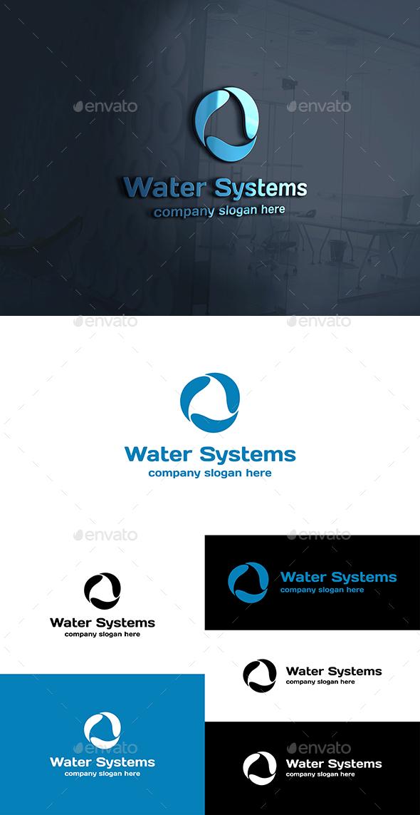 Water Systems Drops Logo - Symbols Logo Templates