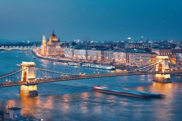 Budapest at twilight - Stock Photo - Images