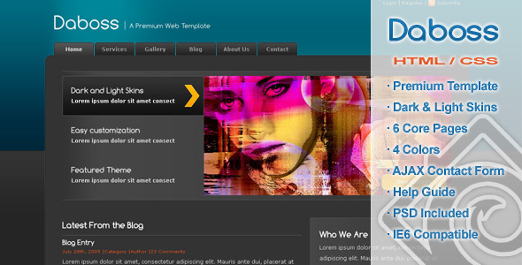 Free Download Daboss - Premium HTML Template Nulled Latest Version