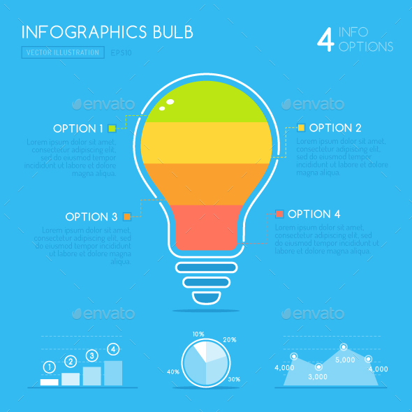 Light Bulb Infographic - Infographics