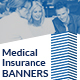 Medical Insurance Web Banners - GraphicRiver Item for Sale