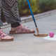 Happy little girl  playing mini golf. - PhotoDune Item for Sale