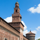 Sforza castello castle in  Milan city in Italy - PhotoDune Item for Sale