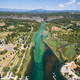 Aerial view of  Gorge du Verdon  canyon river in south of France - PhotoDune Item for Sale