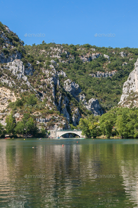 Gorge du Verdon canyon river in south of France - Stock Photo - Images