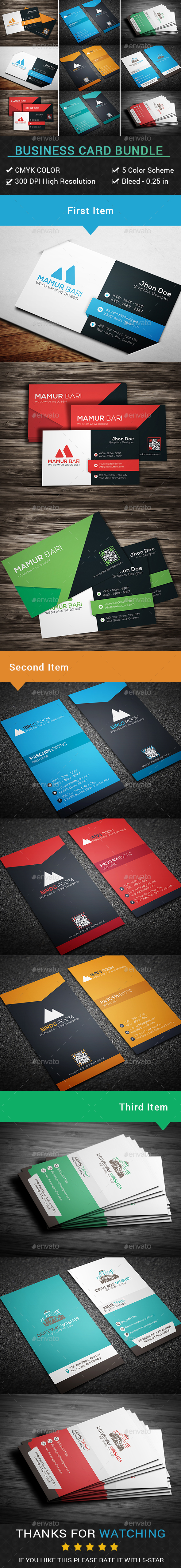 Business Card Bundle (3 in 1) - Business Cards Print Templates