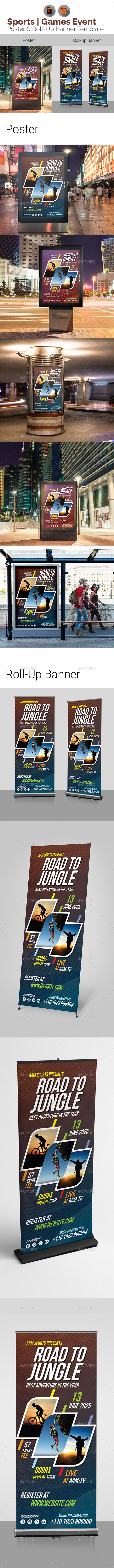 Sports Signage Bundle - Signage Print Templates