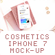 Cosmetics and Beauty Phone 7 Mockup