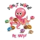 Vector Illustration of Cartoon Octopus with Donuts - GraphicRiver Item for Sale