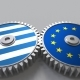 Flags of Greece and the European Union on Meshing Gears - VideoHive Item for Sale