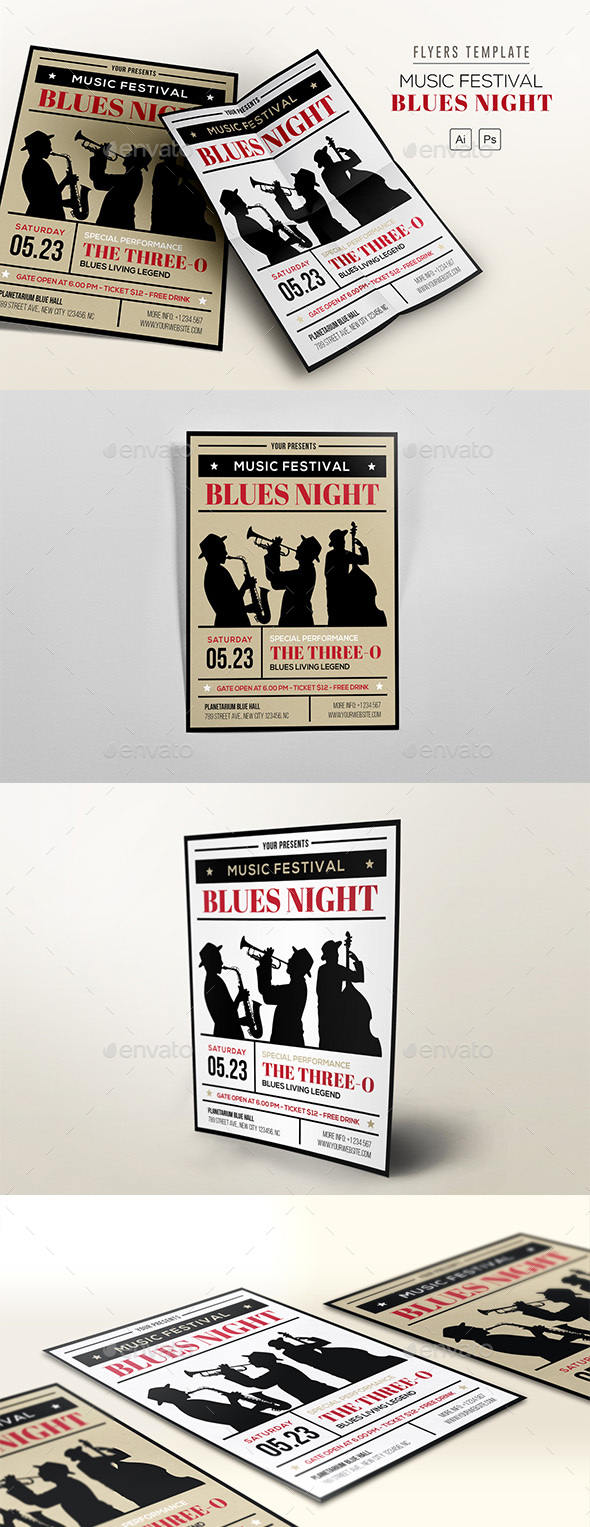 Music Festival - Blues Night - Concerts Events