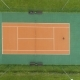 People Are Playing Tennis on Court. Aerial Vertical Top View. Drone Is Flying Downward - VideoHive Item for Sale
