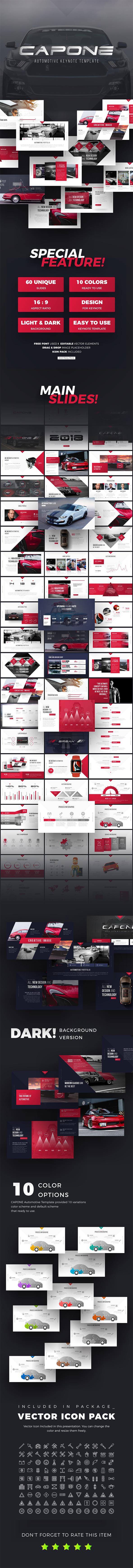 Capone Automotive Presentation Template - Keynote Templates Presentation Templates
