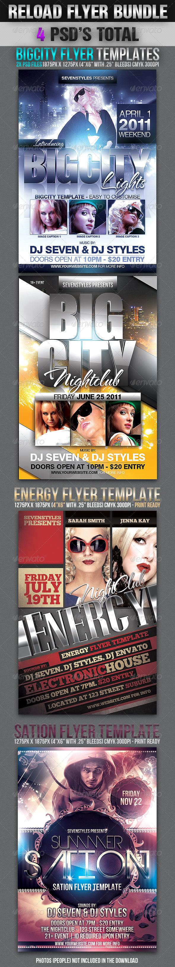 Reload Flyer Bundle - Clubs & Parties Events