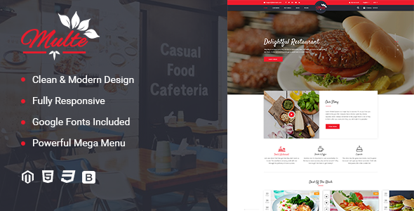 Image of Multe - Responsive Magento 2 Restaurant Theme