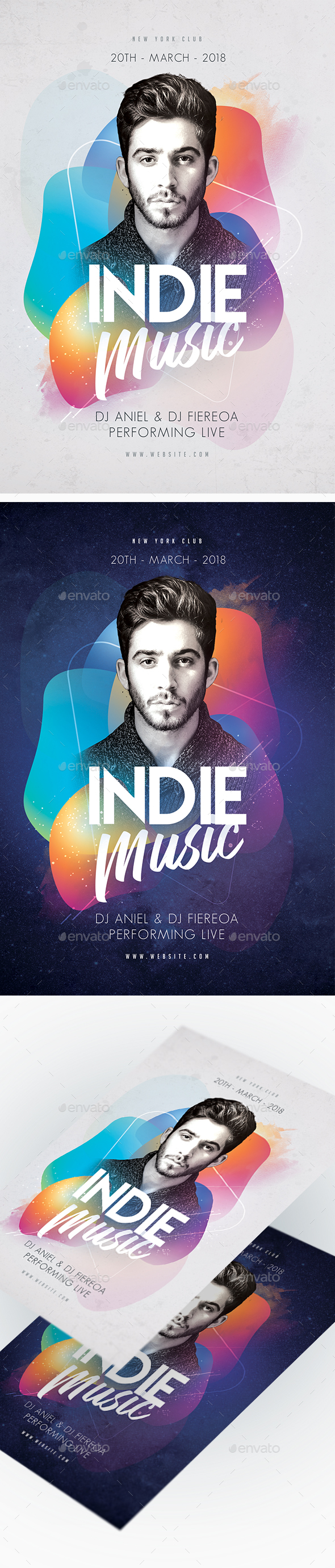 Indie Music Party Flyer - Clubs & Parties Events