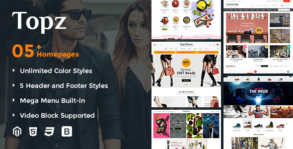 TopzStore - Advanced Responsive Magento 2 Theme - Fashion Magento