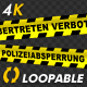 Police Line - German Text - 4K - VideoHive Item for Sale