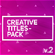 Creative Titles Package - VideoHive Item for Sale