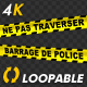 Police Line - French Text - 4K - VideoHive Item for Sale