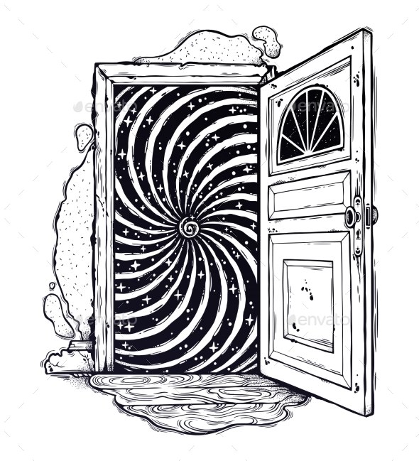 Open Door Into a Realm of Mind Imagination Dream - Miscellaneous Conceptual